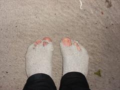 SAD :( (lasseman92) Tags: broken stockings sport socks out sock toe hole rags bad holes holy terrible worn torn cry trasig hobo hollow stinky tattered wornout holey inherited hål froozen coold tå strumpa straff häl sockholes strumphål utslitna