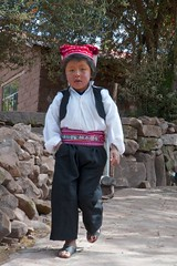 Boy in the traditional cloths - Isla Taquile (Captures.ch) Tags: street peru laketiticaca hat island islataquilla nativeboy