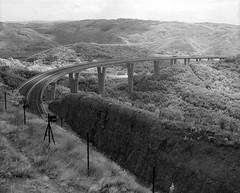 rni Kal viaduct, Slovenia. (wojszyca) Tags: road mamiya mediumformat landscape ir motorway viaduct slovenia infrared epson 6x7 aura haida rz67 efke 4990 110mm 720nm rnikal ir820
