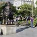 Uno delle tante statue di Botero nella Plaza de las Esculturas