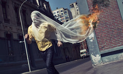 Kabuki (Jon-Jacobsen.com) Tags: street fashion fire veil makeup running burning kabuki loganart jonjacobsen