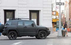 FJ Cruiser - Blacked out! (The Shared Experience) Tags: street nyc usa ny fall truck toyota blackout suv landcruiser matte 2012 x10 fjcruiser