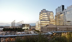Frank Gehry from the High Line (Guillermo Murcia) Tags: nyc newyorkcity sunset urban usa newyork architecture facade landscape nikon chelsea manhattan gehry urbanism frankgehry jeannouvel d600 fieldoperations capitaloftheworld guillermomurcia