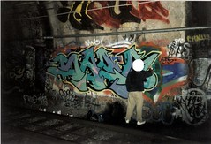 Saer (strange thought) Tags: sf sanfrancisco colors graffiti bay letters arts tunnel area judah piece krylon dtc kyt saer