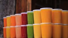All-Natural Fresh Juices (dustin ellison) Tags: colors mexico juice vibrant fresh guanajuato jugos fresco plazabaratillo centrobharati dustinellisonphotography
