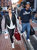 Madeline Mulqueen and new boyfriend Calum Best walking together along Grafton Street Dublin, Ireland