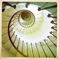 vertigo (filzofi) Tags: fall stair phare chute escalier iphone hipstamatic
