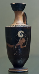 Odysseus escaping from Polyphemo (egisto.sani) Tags: black ceramica london museum ceramic greek ground attic pottery british londra nero fondo attica greca odisseo ulisse odysseus polifemo vulci greekmyths lekythos six mitigreci technique vasigreci polyphemo