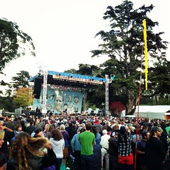 Elvis Costello from far away @hsbfest #hsb (Steve Rhodes) Tags: sf sanfrancisco california ca 2012 iphone iphone4 iphonephoto iphone4camera iphone4photo