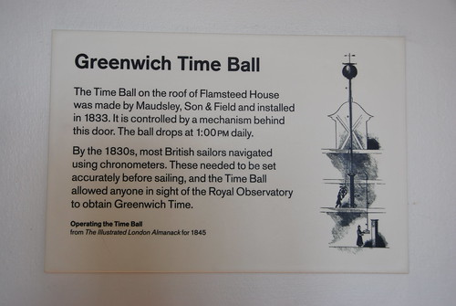 Greenwich - Royal Observatory Flamsteed House Greenwich Time Ball Information Notice