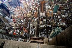 HDR - Manhattan Streets NYC (JarrodLopiccolo) Tags: city nyc newyorkcity manhattan aerial esb empirestatebuilding hdr