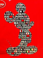 Around the World / #mosaic (haphopper) Tags: pictures art word logo mosaic mickey goods font disneystore 2012