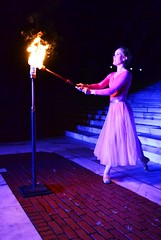 Ballerina lites the torch for Illuminations of Light Ceremony