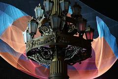 Calm Grandeur (C.C. CHANG ) Tags: art installation light street signal festival digital signalfestival rudolfinum prague praha czech architecture fabric neorenaissance vltava auditorium moldau night