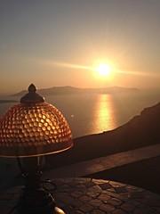 Sunset in Fira (elirus1) Tags: cyclades egeo sunset fira oia santorini mojito aperitivo travel summer greece perissavisitgreece sea sun