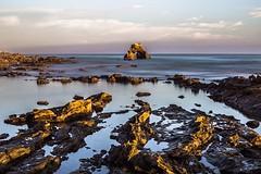 Little Corona Del Mar Beach, California (sona.eskandarnezhad) Tags: 6d canon pacificocean coronadelmar california rock longexposure nd10stop leefilter beach sunsettime