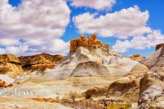 Harsh and Desolate, but Beautiful (Jim Johnston (OKC)) Tags: bistibadlands alienworld rockformations desert newmexico hike