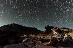 Trails at Olmsted Point Yosemite (acreativename) Tags: yosemite nationalpark startrails stars nightsky landscape d7000 starstax nikon olmstedpoint nightscape tokina1116