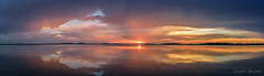 Colorful Findlay Sunset (2016-08-30 6321) (bechtelsf) Tags: sunset findlay ohio panorama nikon nikon2470mm reflection evening water sky colorful
