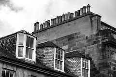 When one chimney isn't enough (cathbooton) Tags: canon6d mycanon canonusers canoneos holiday vacation summer explore city outdoor building rooftop blackandwhite scotland edinburgh nineteen chimneys