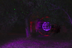 At the Shack (~138~) Tags: gorge gorgewaterway victoria abstract art ball bc canada colour colours dark electric fiber fiberoptic fibreoptic light lightart lightpaint lightpainting lightsculpture lights night nightlights nightscape orb outdoors paintingwithlight psychedelic silhouette singleexposure sketch sphere strange streaks trippy
