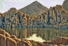WATSON, I PRESUME (Irene2727) Tags: lakewatson prescott arizona lake lakescape scape waterscape landscape nature rocks granitedells reflection