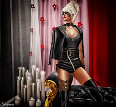 Sabrymoon wearing K E L I N I Haute Couture Body Leather Suit & Jacket and Boutique 187 Fetish Kitty Collar @ Fetish Fair 2016 (Two Too Fashion) Tags: secondlife secondlifemodel fashion fashiondress kelinihautecouture kelini evakelini fetishfair2016 bodyleathersuitjacket boutique187 fetishkittycollar highfashion hautecouture leatherjacket femaleleatherjacket leatherbodysuit collar earrings fetishcollar fetishbodysuit style stylish sexy sensual sexyoutfit fetishoutfit