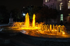 Vauquelin Place / Place Vauquelin (A Great Capture) Tags: nighttime nightshot night lowlight water fountain old montreal oldmontreal qubec monument jean vauquelin agreatcapture agc wwwagreatcapturecom adjm canada canadian photographer northamerica ash2276 ashleylduffus ald mobilejay jamesmitchell summer summertime city downtown lights urban cityscape urbanscape eos digital historical landmark 2015