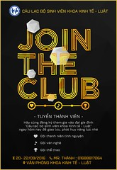 Join the Club poster (nam fullbuster) Tags: join club cu lc b sinh vin khoa kinh t lut i hc thng mi tuyn thnh tnh nguyn th thao m nhc vn ngh nhy