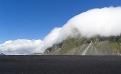 Black beach - Iceland (john--paul) Tags: islance iceland bleu noir montagne mer sable beach ciel landscape canon 1200d eos ngc 1855mm cloud nuage sky black blackbeach