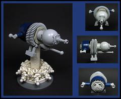 Power Landing (Karf Oohlu) Tags: lego moc microscale microspacetopia landing spaceshiplanding landingplume