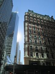 The Knickerbocker Hotel Looking East NYC 4100 (Brechtbug) Tags: the knickerbocker hotel southeast corner broadway 42nd street new york city 2016 nyc 08232016 morning sun glare by architects marvin davis beauxarts style constructed red brick with terracotta details mansard roof 6 times square 1466