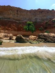 great spot for swimming (claudia.joseph16) Tags: water sea bay cliff sand wave wild splashing swimming reddish stone horizon sky landscape