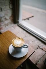 Coffee time (krkojzla) Tags: coffee coffeetime coffeeshop coffeelover analog retro vintage canon22mmf2 canoneosm grain windows bythewindow light lights naturallight timwendelboe oslo norway scandinavia beauty beautiful wood woodentable