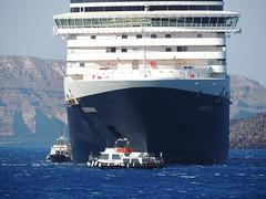 Holland America Lines' 'Eurodam' cruise ship, Santorini (Thira), Greece (Steve Hobson) Tags: santorini thira greece holland america lines eurodam cruise ship