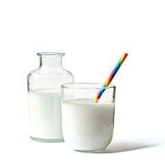 milk (brescia, italy) (bloodybee) Tags: 365project milk movie film cinema stilllife drink food straw rainbow white shadow glass bottle square