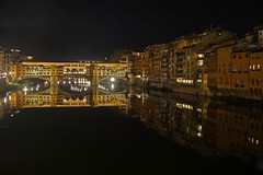 Ponte Vecchio (terri-t) Tags: pontevecchio florence firenze bridge landscape city arno river italy reflection 1345 explored