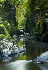 Fairy-Glen (Ian R Roy) Tags: landscape fairy glen long exposure water river gorge autumn trees snowdonia national park rain