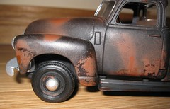 AMT 50 Chevy Pickup Weathered 10 (84GT-S) Tags: black scale truck model rust rusty pickup plastic chevy rusted weathered kit 50 1950 junker chippedpaint beater ratrod 125 amt