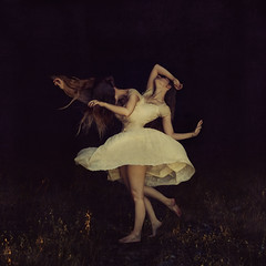 imagination island (brookeshaden) Tags: selfportrait darkness surrealism squareformat imagination torn tension pulling deformed fineartphotography elegance brookeshaden texturebylesbrumes