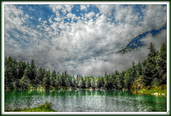 Clouds over the lake (Tizi@no56 (painting with light)) Tags: autumn sky lake storm water rain clouds landscape nuvole postcard cielo pioggia temporale valledaosta thegalaxy lagolexert rememberthatmomentlevel1 rememberthatmomentlevel2