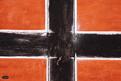 Black Cross - r (Tjook) Tags: red white abstract black color detail travelling history sign vertical horizontal wall by illustration painting square denmark design jones photo democracy colorful europe paint european republic cross symbol drawing flag country nation culture continental patriotic historic line communication international national experience frame danish button editorial blade geography flagg vector beams geographic cultural symbolic nationality photodesign franja photoexperience tjook