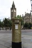 Gold Post Box (tofu_catgirl) Tags: manchester winner townhall royalmail goldmedal london2012 img3198 goldpostbox philliphindes