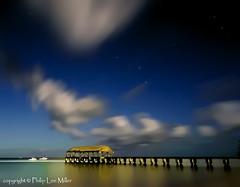 Once in a Blue Moon (philipleemiller) Tags: nightphotography nature clouds stars hawaii seascapes kauai hanaleipier fullmoons bluemoon longexpsoures boatsintheharbor d7000 daarklands magicunicornverybest magicunicornmasterpiece galleryoffantasticshots