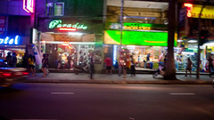 Drive-by (jenschuetz) Tags: kualalumpur kl malaysia overseas travel gettinouttadodge vacation holiday southeastasia aroundtown nightlife nightphotography neonlights motion blur traffic street driving