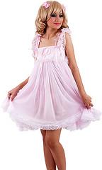 sat181-1 (sissysteffie) Tags: pink lingerie sissy bonnet nightgown teddie peignoir prissy playsuit