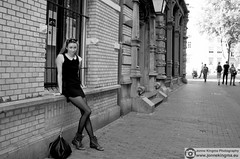(Just a guy who likes to take pictures) Tags: city portrait urban bw en white black holland blanco netherlands monochrome dutch face amsterdam fashion female hair bag photo und model europa europe long shoot foto dress photoshoot y boots zwartwit robe feminine negro panty nederland thenetherlands tights portrt blonde holanda shooting nl collar frau portret mode zwart wit weiss pantyhose paysbas modell schwarz nylon vrouw metropol stad spui noordholland niederlande littleblackdress zw haren the gezicht strumpfhose haar fotoshoot jurk kleid jurkje necklet kraag kraagje