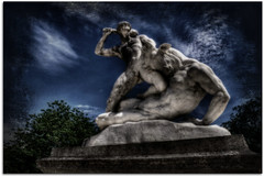 Slaying the Minatour... (scrapping61) Tags: paris france statue legacy 2012 swp tuileriesgarden vividimagination artdigital musicphoto sotn scrapping61 stealingshadows awardtree daarklands trolledproud exoticimage artnetcomtemporary digitalartscene netartii pinnnaclephotography hypothethicalawards