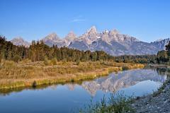 Grand Tetons (nshbn) Tags: reflection landscape nationalpark wyoming reflexions grandteton schwabacherslanding