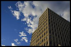 Architecture moderne (Arnaud Huc) Tags: windows sunset sky cloud france building architecture modern clouds buildings europe montpellier moderne ciel nuages languedoc batiment fenêtres hérault arnaudhuc